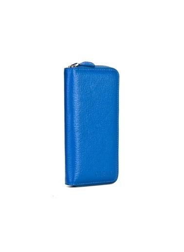 Cabani Hakiki Deri Kartlık Mavi